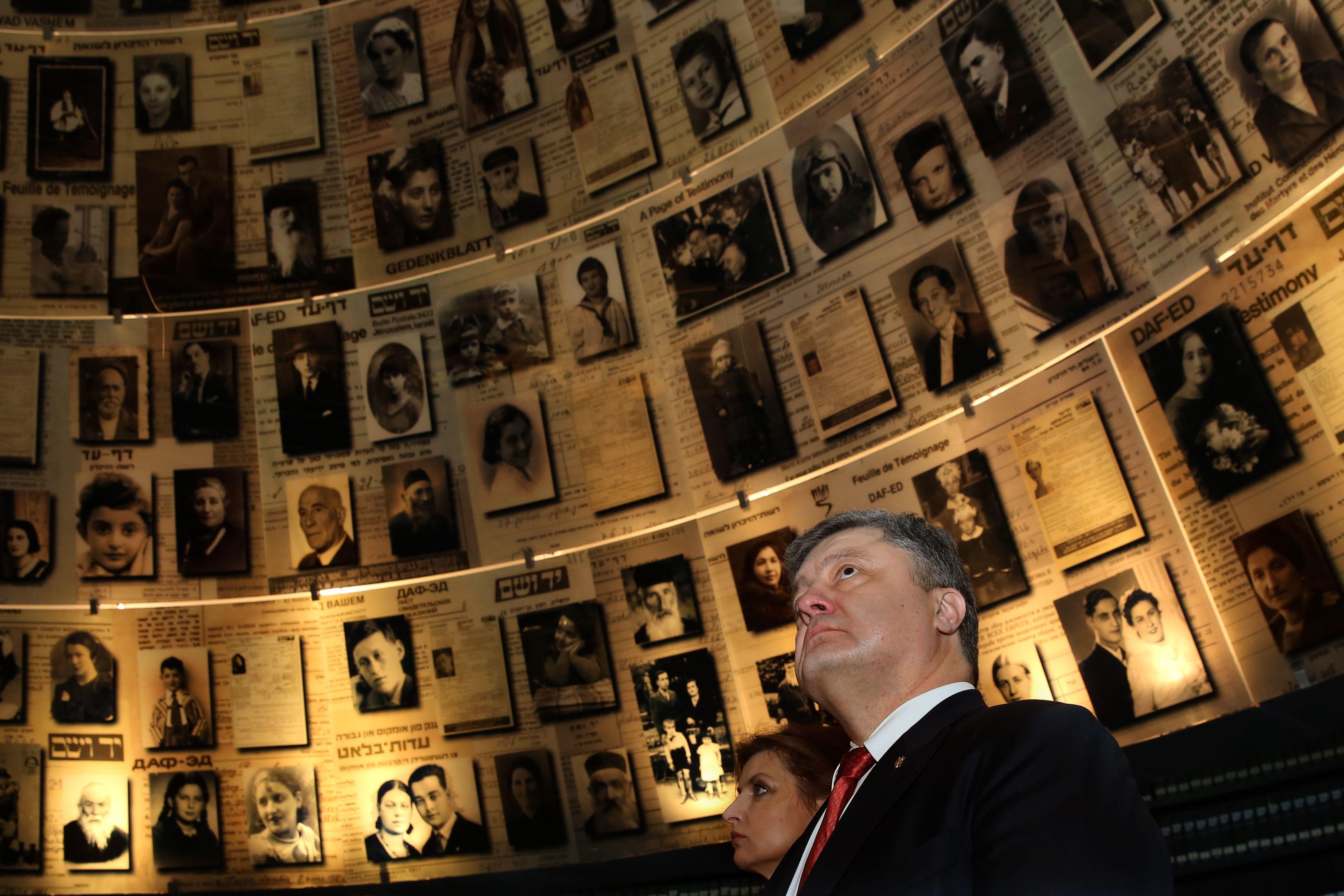 Ukrainian president Petro Poroshenko at Yad Vashem during a recent visit to Israel.