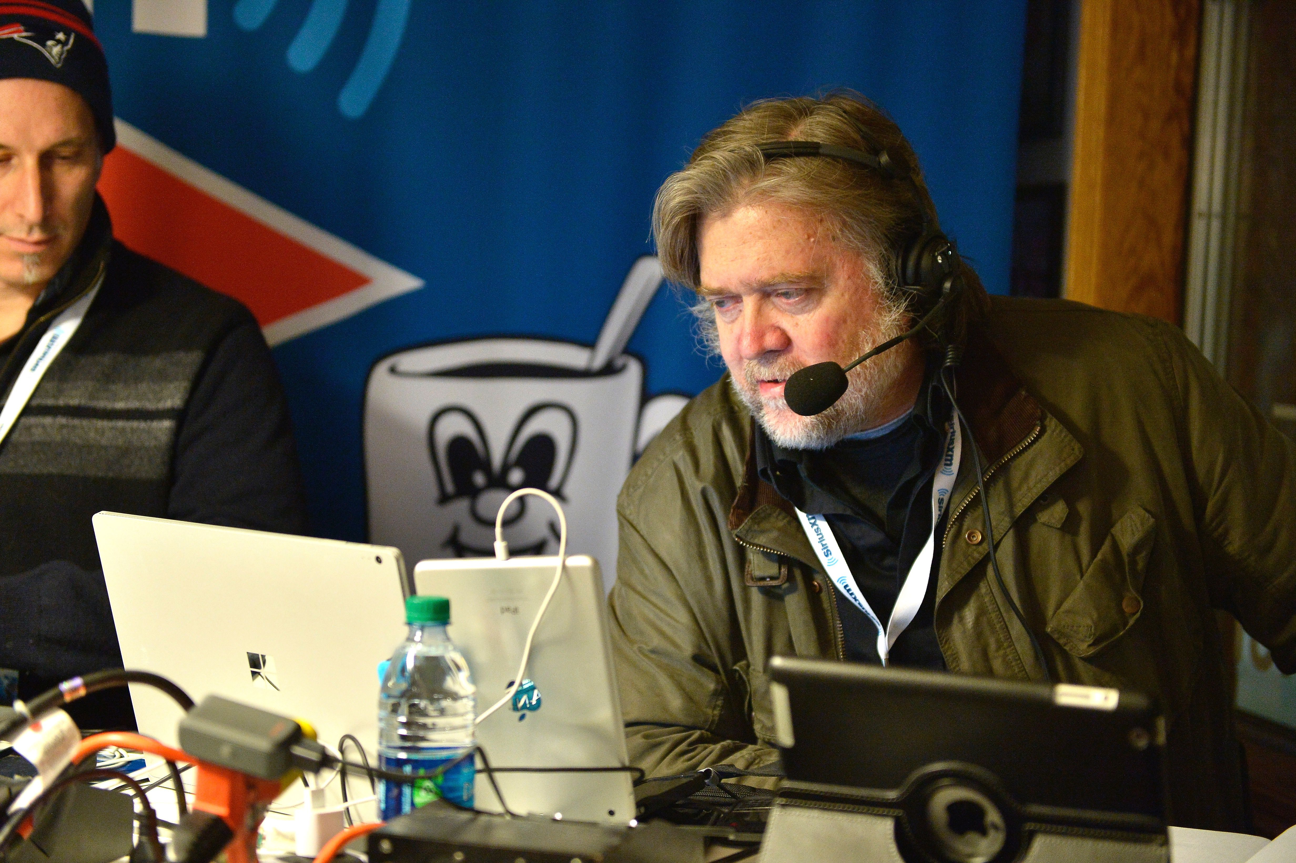 Steve Bannon does a radio broadcast