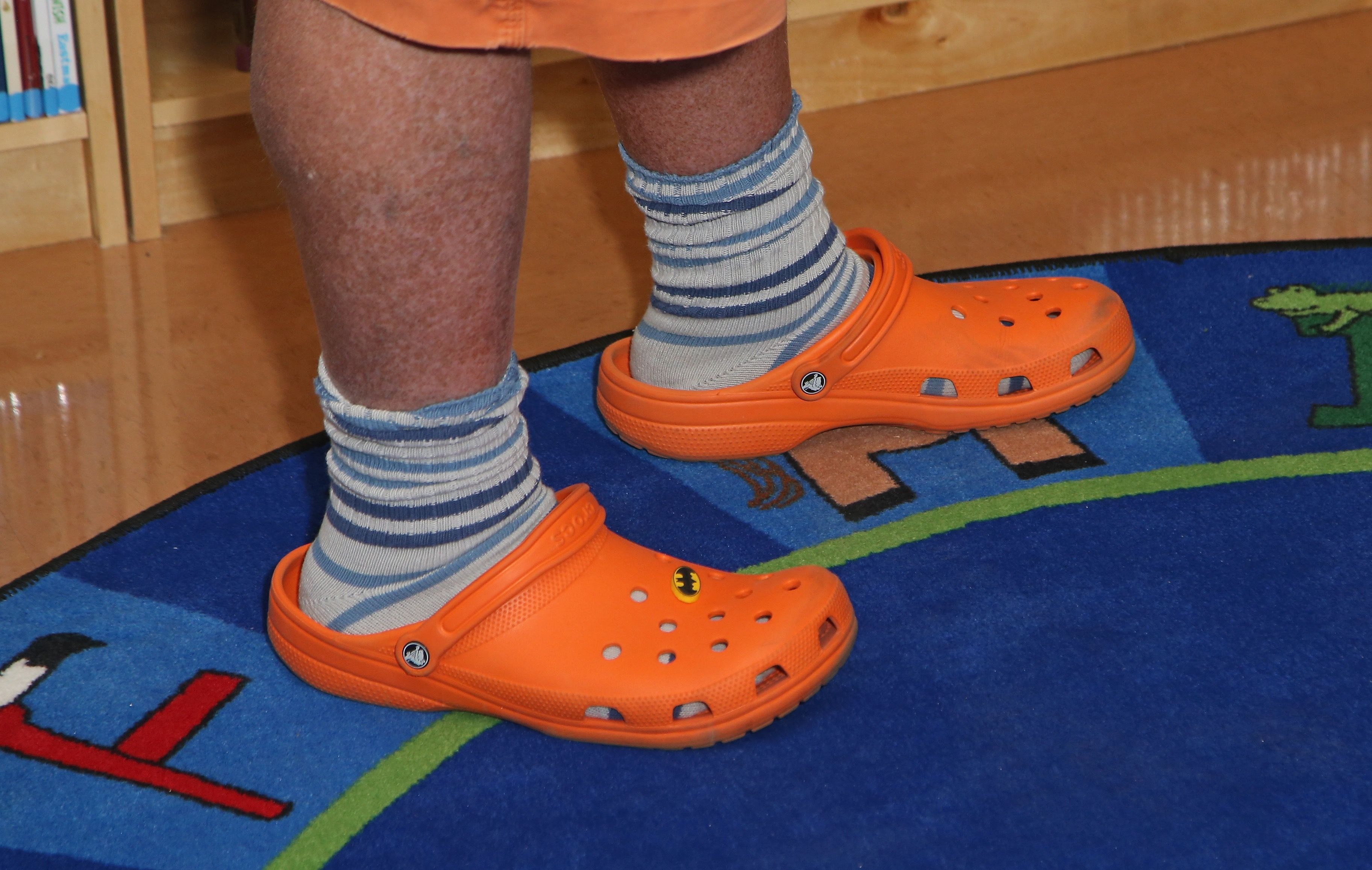 This is Mario Batali in crocs. Don't be Mario Batali.
