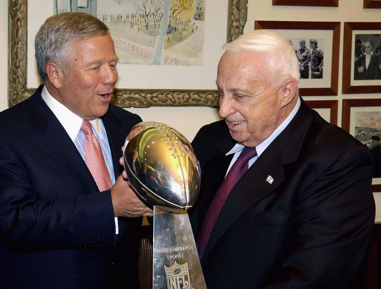 Robert Kraft and former Israeli Prime Minister Ariel Sharon.