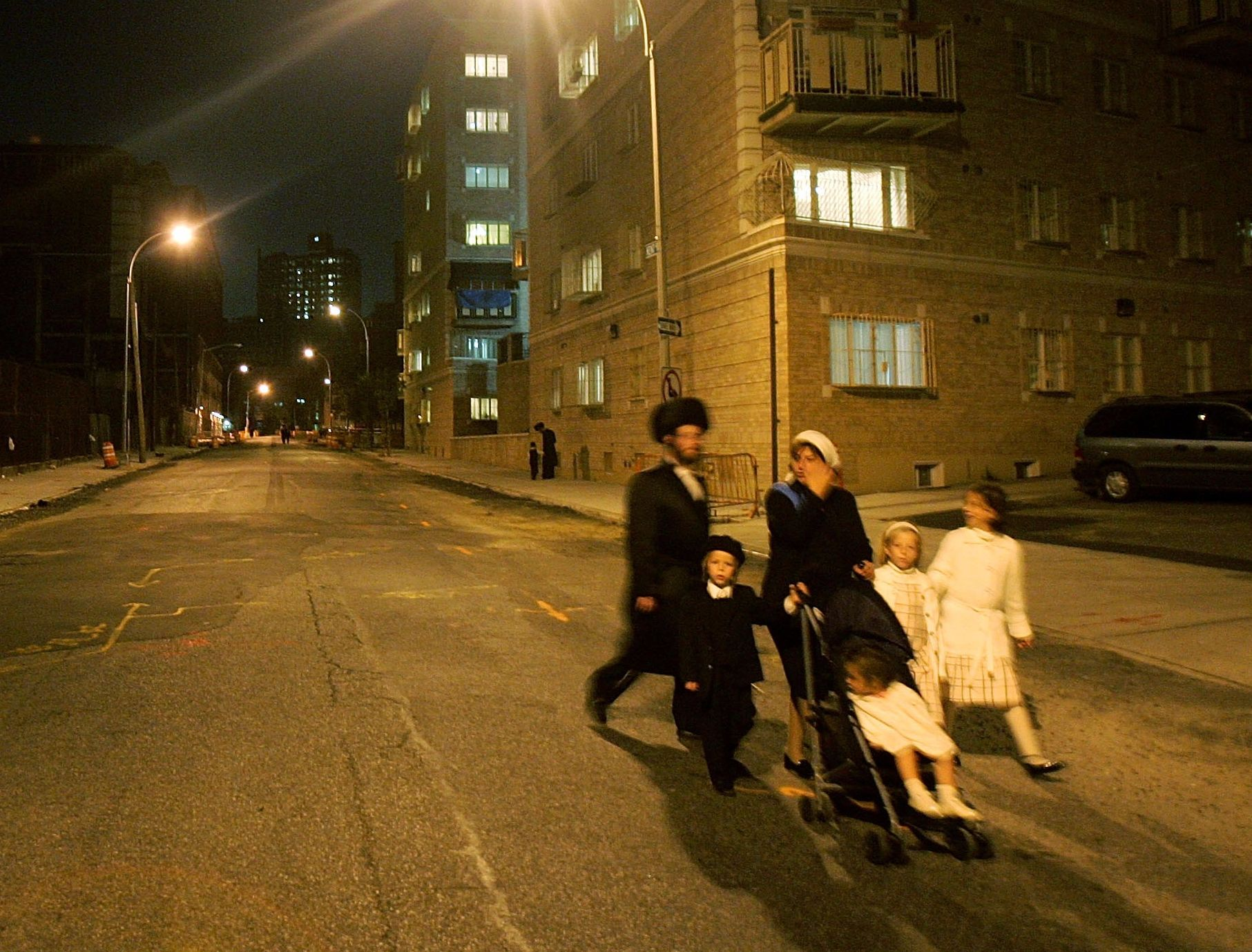 A Hasidic family on Rosh Hashanah in Brooklyn in 2005.