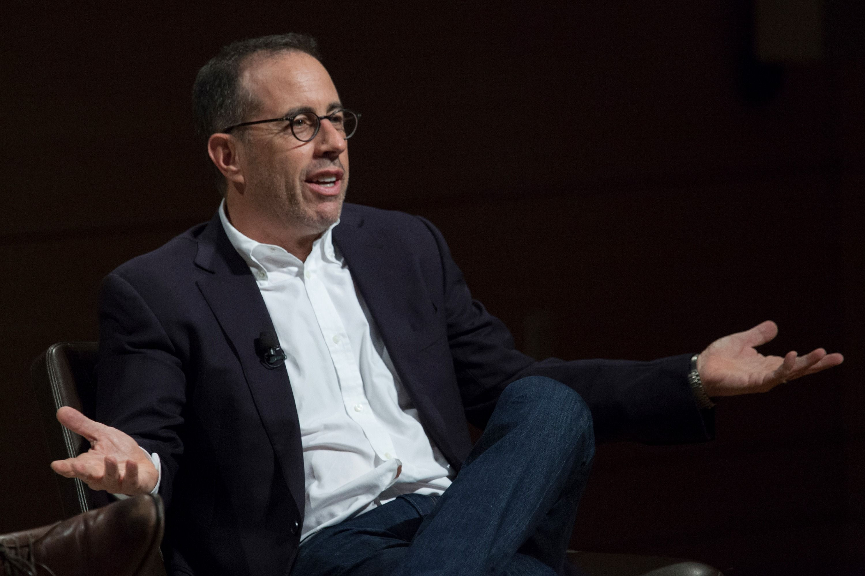So he begrudgingly took to facebook to sell the suit and also decided - Jerry Seinfeld Reckons With Bill Cosby S Tainted Legacy In Cringeworthy Video