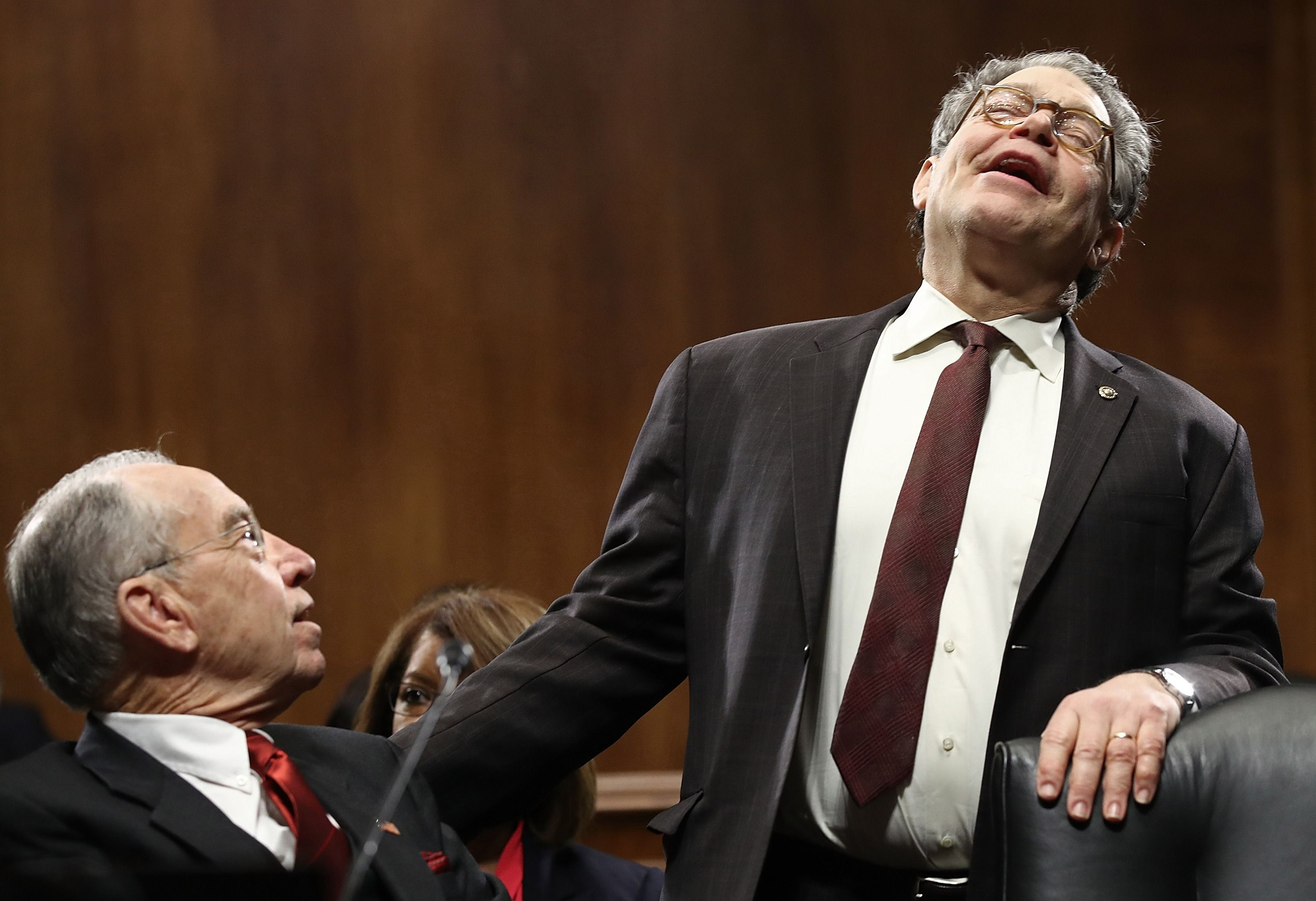 Senator Al Franken with Senator Chuck Grassley (R-IA) in January.