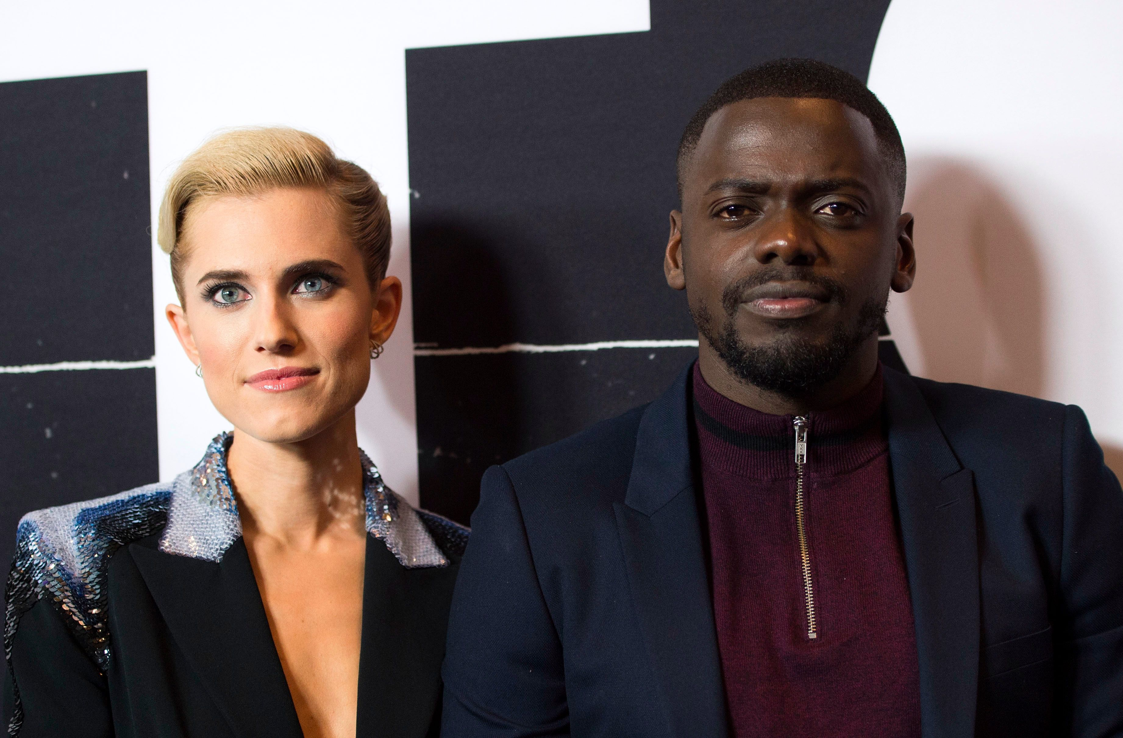"Allison Williams and Daniel Kaluuya, stars of ""Get Out."""