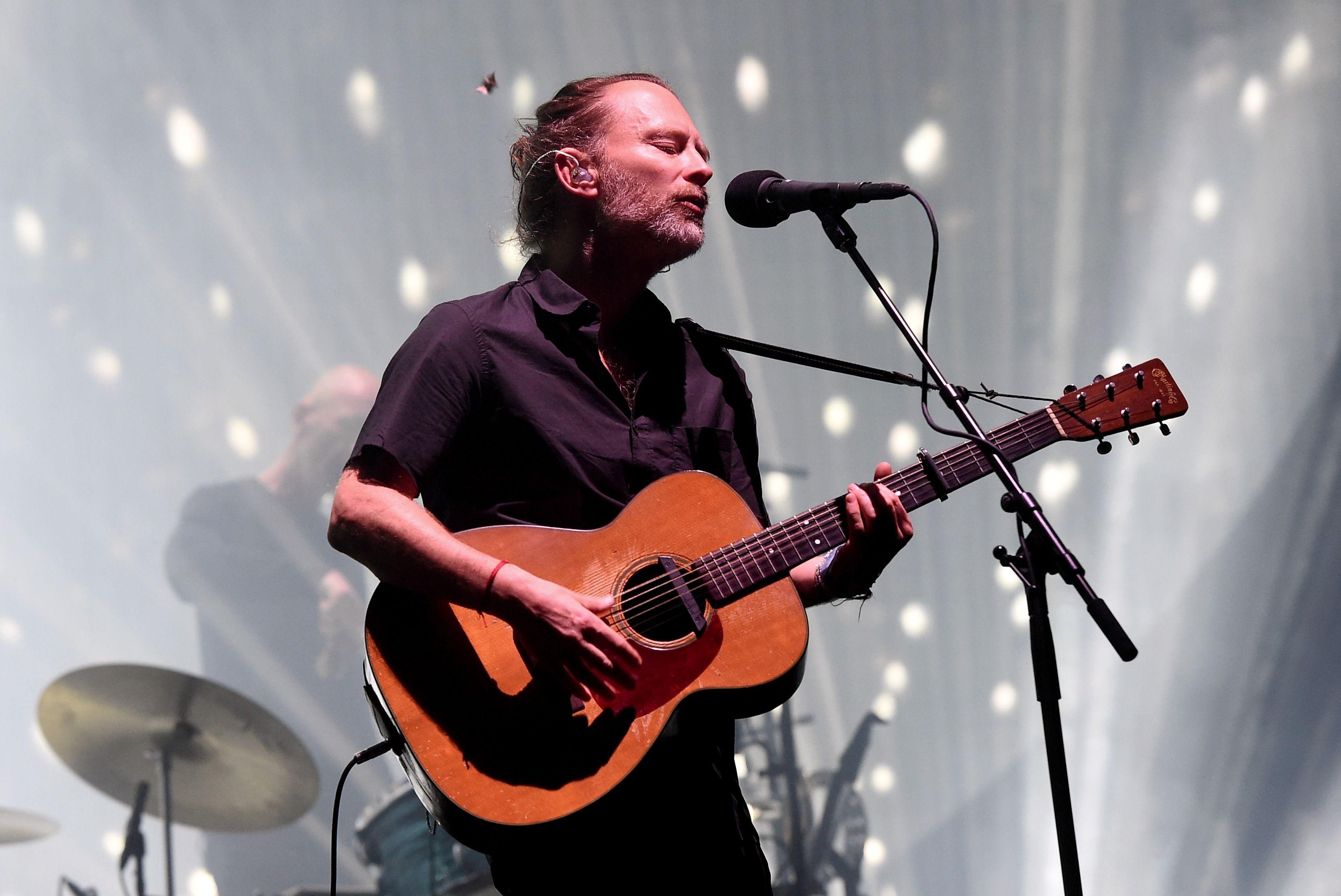 Radiohead frontman Thom Yorke at the Coachella music festival in April.