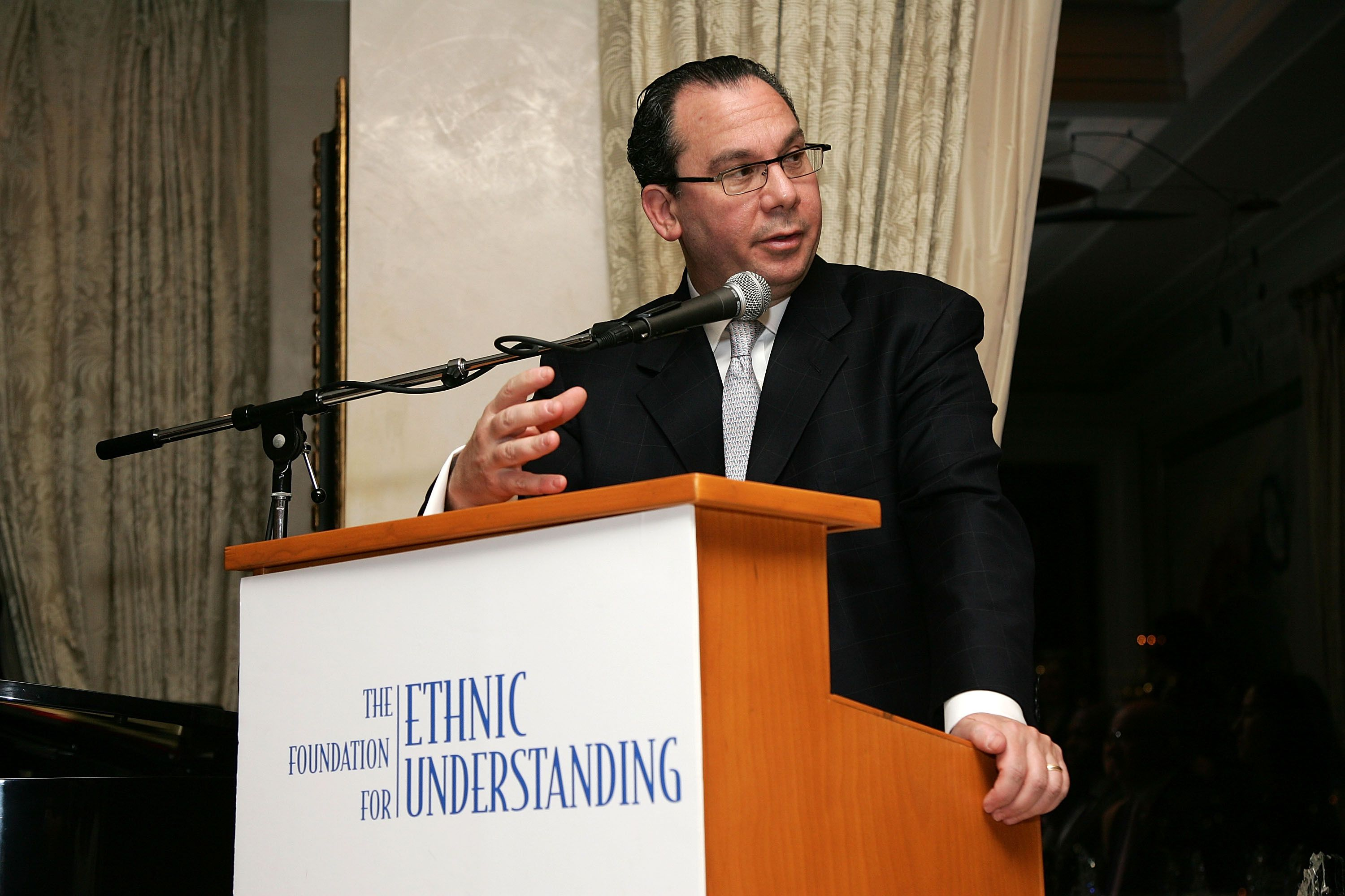 Rabbi Marc Schneier speaks at the Foundation for Ethnic Understanding spring benefit on March 8, 2007 in New York City.