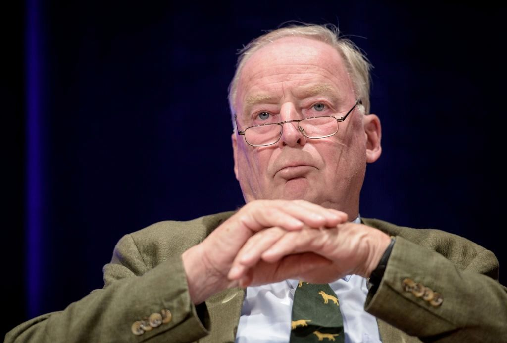 The co-leader of the right-wing Alternative for Germany (AfD) party, Alexander Gauland, attends a campaign event.