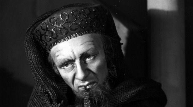 Quality of Mercilessness:  In his study of anti-semitism, David Nirenberg considers Shakespeare?s ?Merchant of Venice.? The titular character, as played by John Gielgud, is shown here.