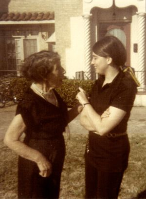 Budding Activist: As a teenager growing up in Texas (C. 1970) with maternal grandmother, Rose Hendler.