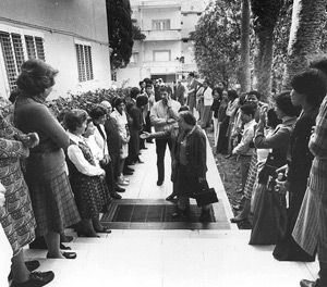 Helping Hands: Golda Meir (front/center), established the Mount Carmel Training Center, one of MASHAV?s first training centers, to empower people from developing countries.