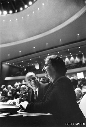 STATECRAFT: Golda Meir at the United Nations.
