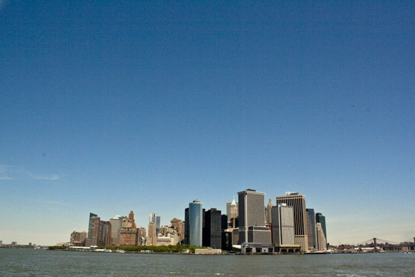 Lower Manhattan, again, from the ferry.