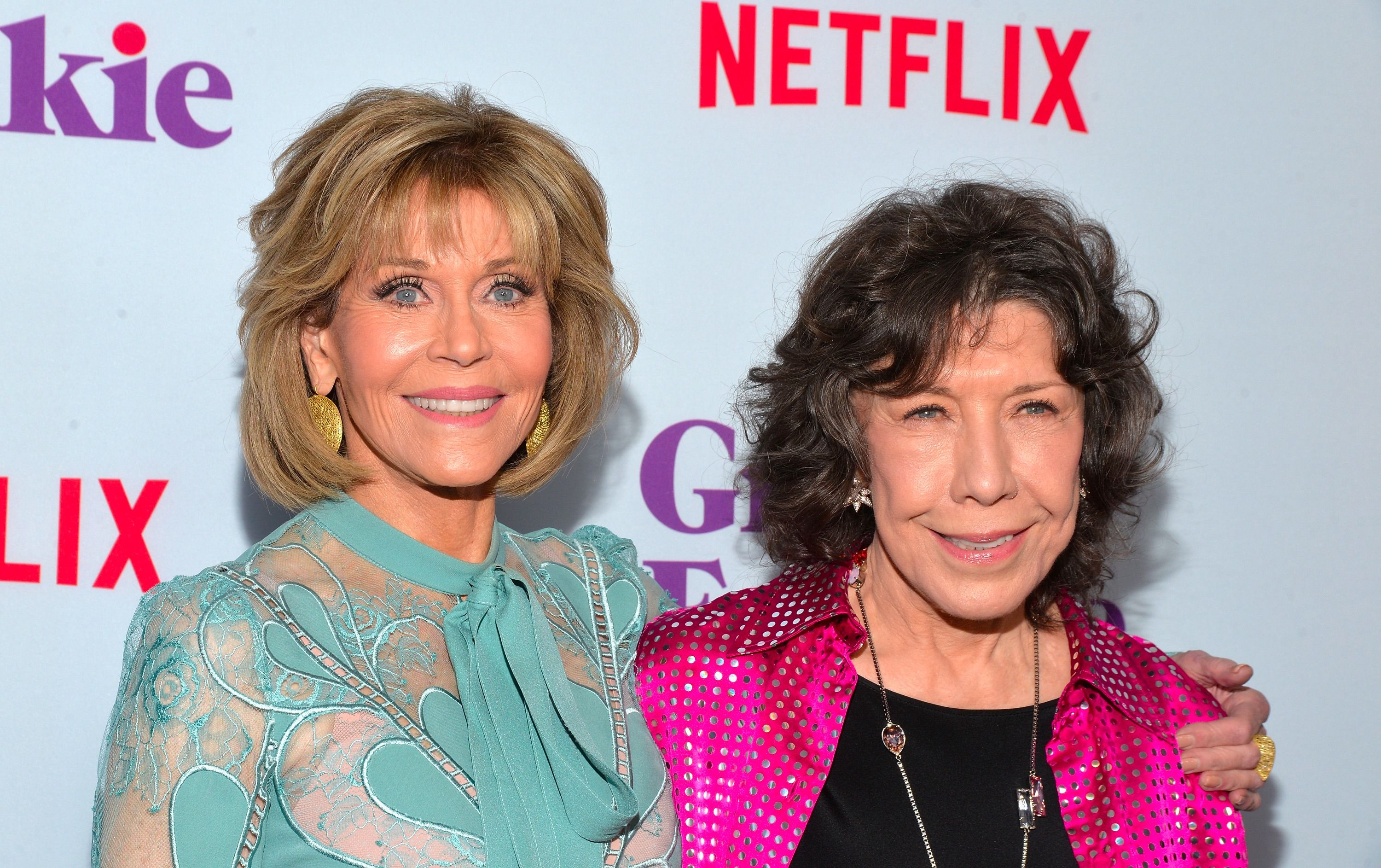 """Jane Fonda and Lily Tomlin, of """"Grace And Frankie"""""""