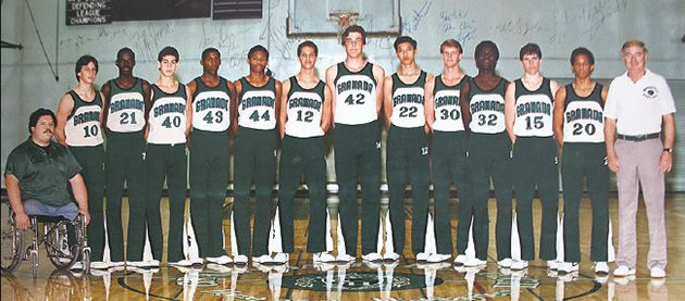 The Height of Integration: Granada Hills High School?s varsity basketball team lines up proud.