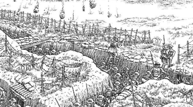Not Very Quiet on the Western Front: Joe Sacco visualizes the bloodiest day in British military history in ?The Great War, July 1, 1916: The First Day of the Battle of the Somme.?