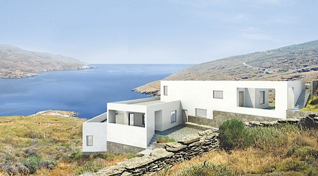 Greece is the Word: Segal designed the Korthi houses in Andros, Greece.