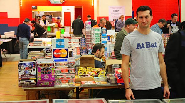 On a Mission: Brian Roth scours the White Plains Card Show for Hank Greenberg memorabilia.