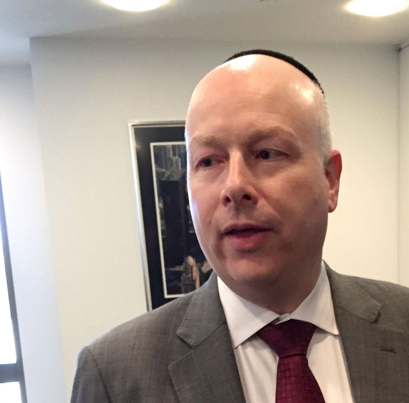 Trump's Lawyer: Asked a question about Israel, Trump deferred to Jason Greenblatt, chief legal officer of the Trump Organization.