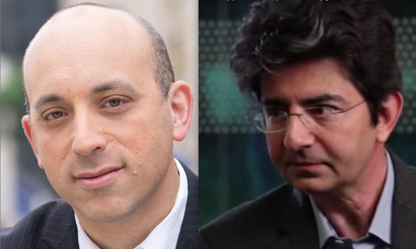Jonathan Greenblatt (left) and Pierre Omidyar.