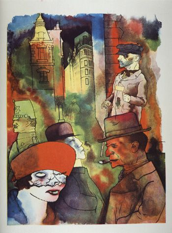 Banned by Weimar: George Grosz?s anthropological watercolors displayed Alexanderplatz in all of its seamy detail.