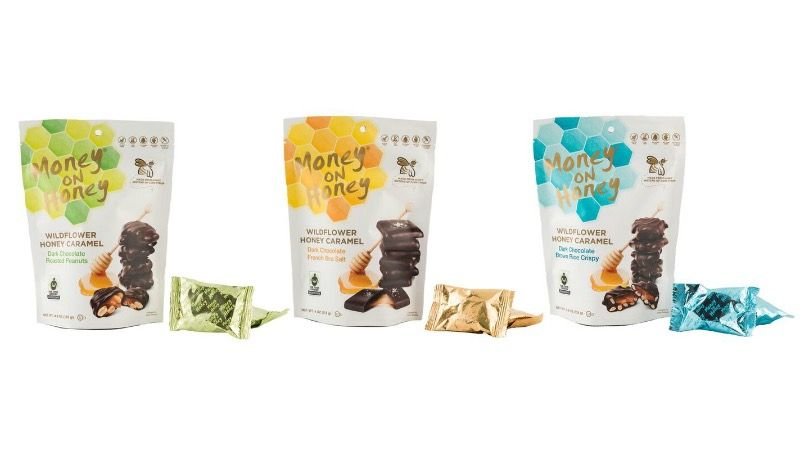 A selection of Money on Honey's honey-filled chocolate flavors.