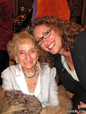 FRANK TALK: Ruth Gruber, left, with Judy Gold at the event.