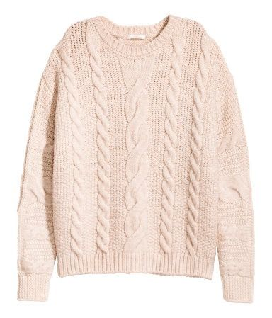 H&M Cable-knit Sweater, on sale for $25, hm.com