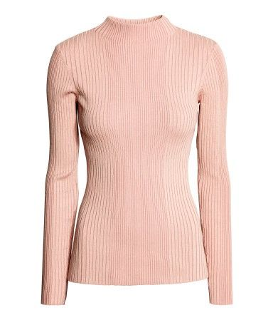 H&M Ribbed Mock Turtleneck Sweater, on sale for $20, hm.com