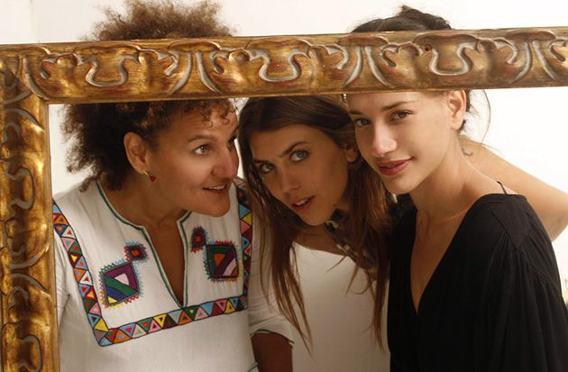 Unlikely Coupling: From left, HaBanot Nechama members Karolina, Dana Adini and Yael Decklebaum.