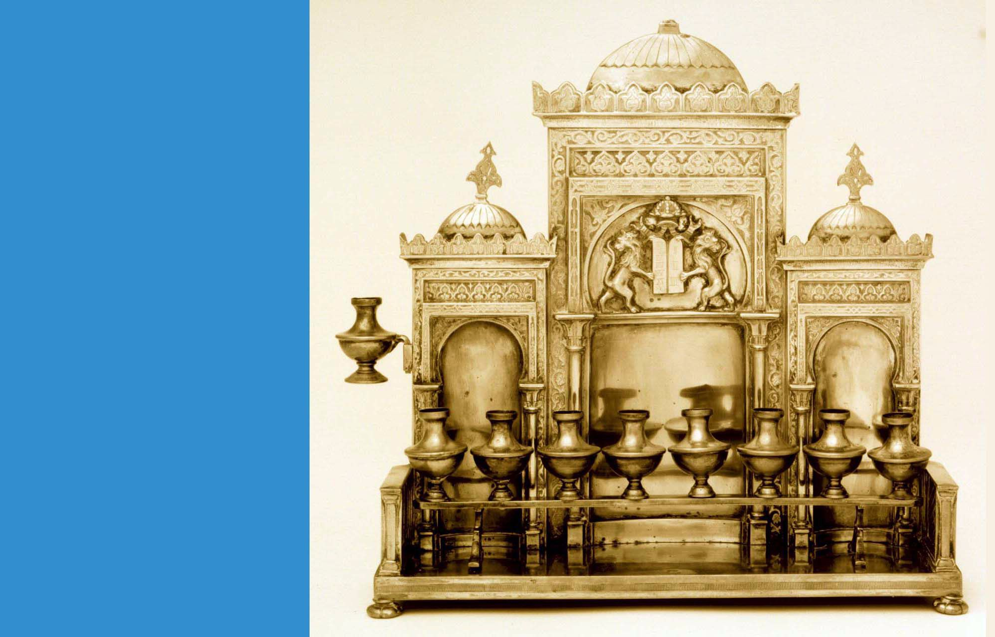 Cincinnati Bound: A late 19th Century brass menorah, probably made somewhere in the Austro-Hungarian empire, is part of the Klutznik Museum collection.