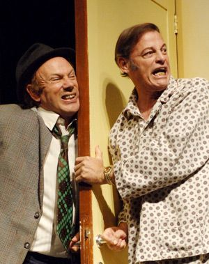 Breaking Down The Door: Gadi Yagil (right) and Rami Baruch struggle in ?Thrill My Heart.?