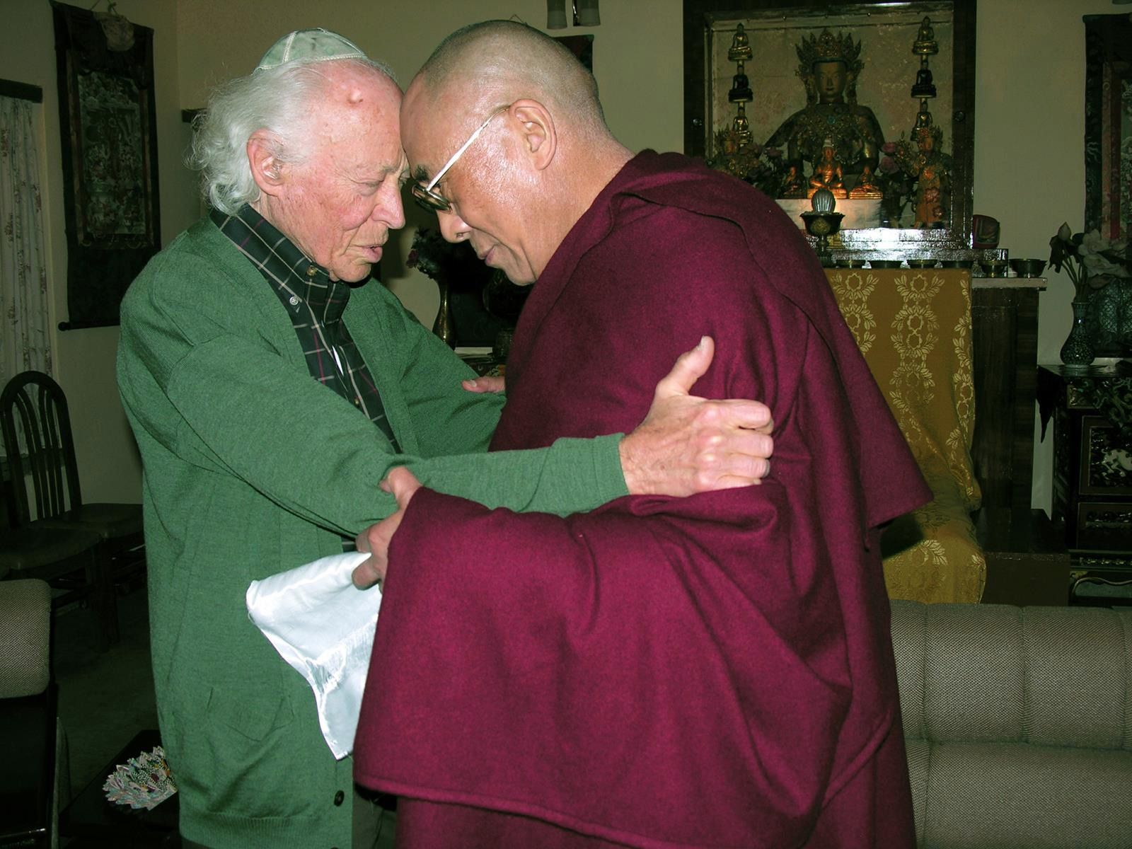 A Literal and Spiritual Meeting of Minds: Gendler with the Dalai Llama.