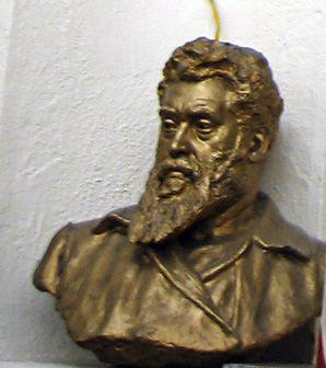 Bust of Yiddish playwright Jacob Gordin.