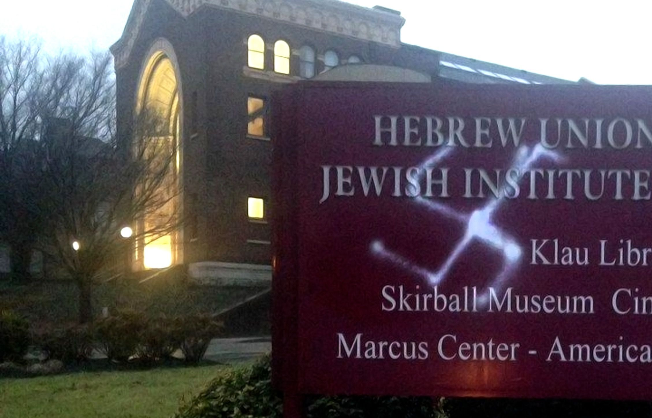 Hebrew Union College in Cincinnati Hit With Swastika Graffiti