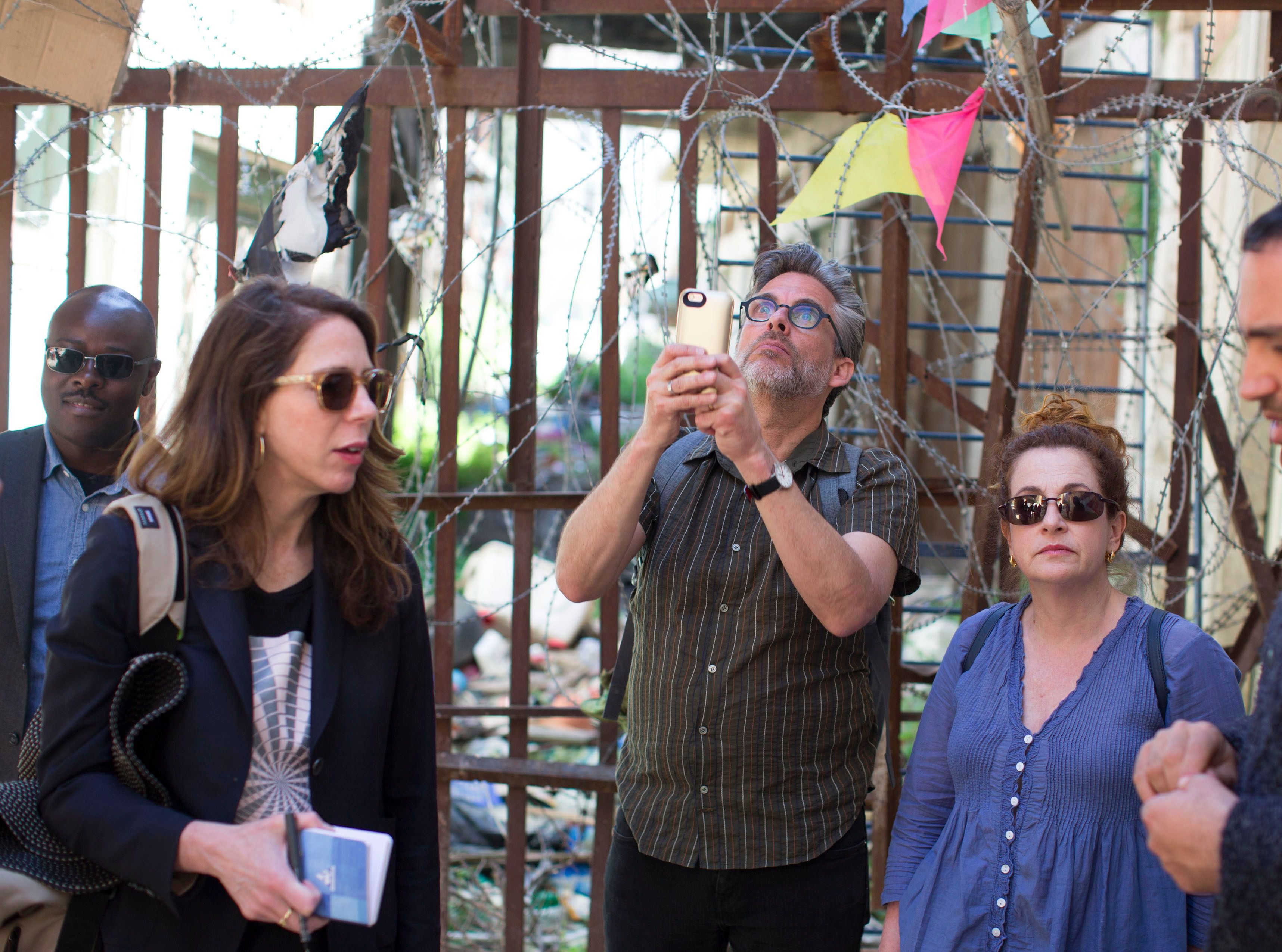 Michael Chabon and Ayelet Waldman in Hebron.
