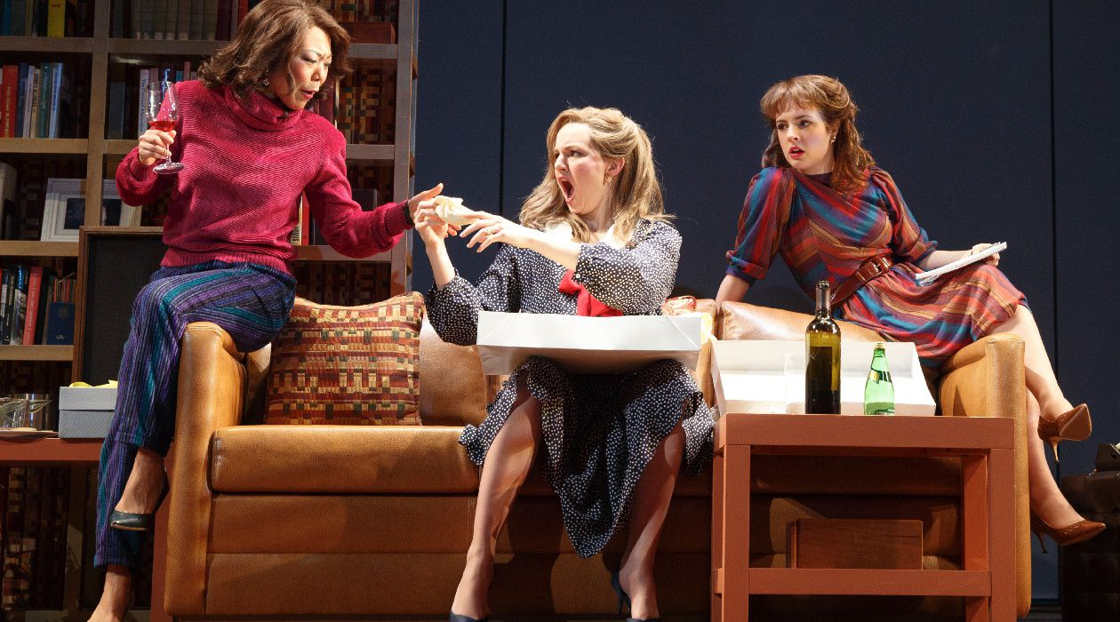 "Three's Company: Ali Ahn, Leighton Bryan, and Elise Kibler in Wendy Wasserstein's ""The Heidi Chronicles."""