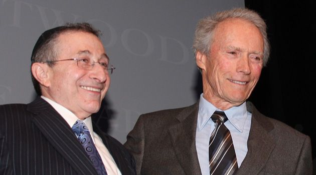 Most Overpaid: Rabbi Marvin Hier, whose family brought home nearly $1.3 million last year alone from the Simon Weisenthal Center, seen here with Clint Eastwood.