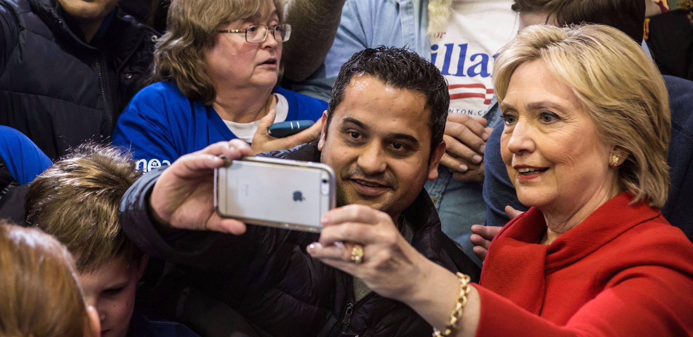 Hillary Clinton in Iowa.