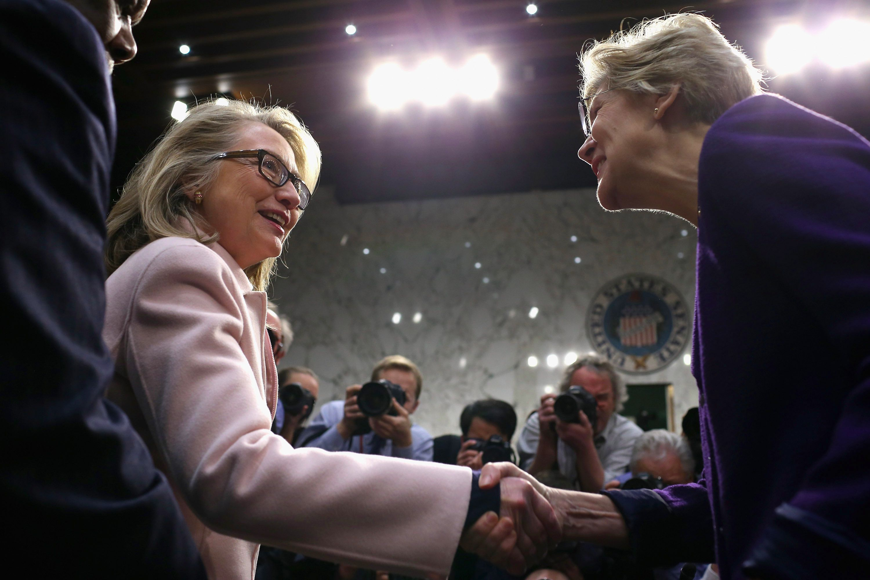 Hillary Clinton and Elizabeth Warren