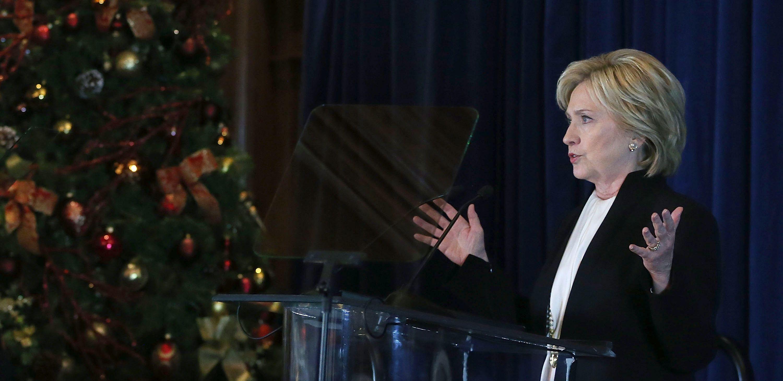 Hillary Clinton at the Saban Forum.