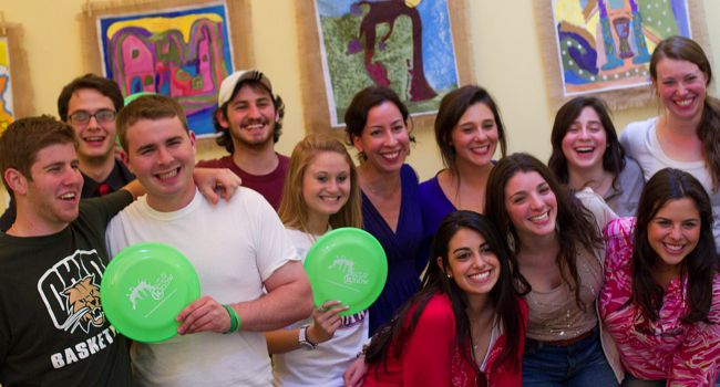 Happy Faces: Hillel students from Ohio University.