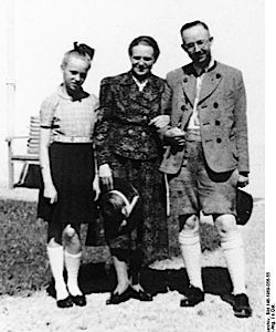 Himmler poses for a photo with his wife and daughter. His letters to both appeared in an Israeli and German newspaper this weekend.