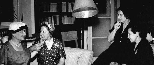 Building Bridges: From left: Helen Keller, Polly Thompson, Golda Meir and Zipora Sharett, in Israel in the spring of 1951.