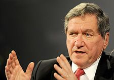 Champion: Richard Holbrooke championed the cause of Holocaust survivors and refugees.