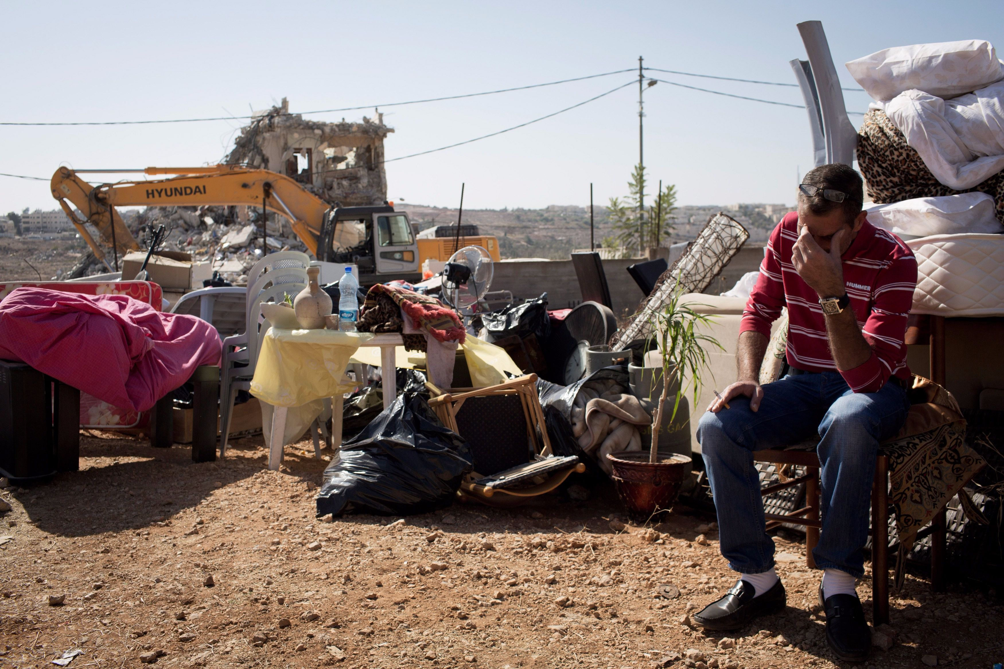 A 2013 home demolition in East Jerusalem