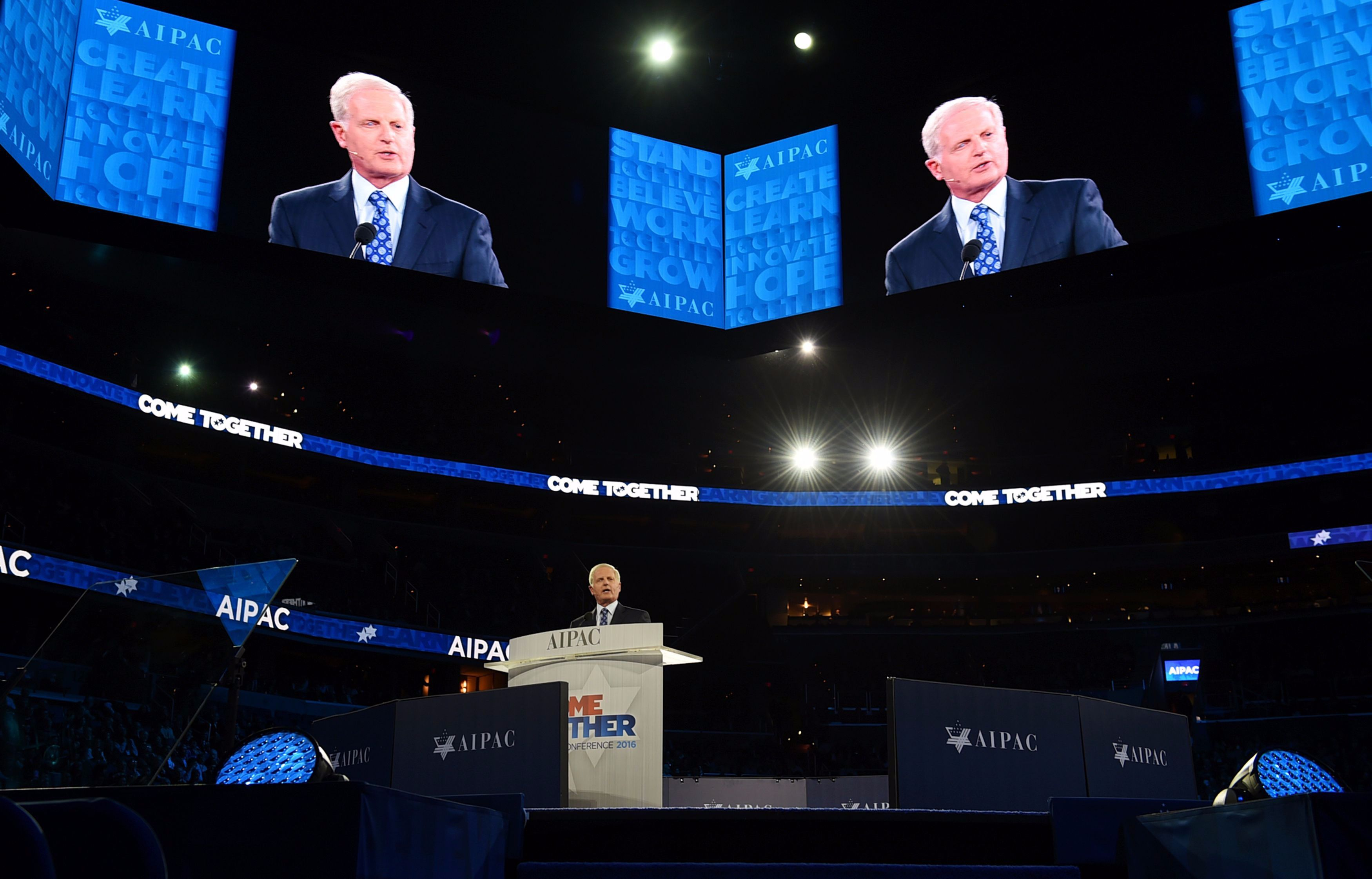 AIPAC CEO Howard Kohr speaks at the start of the AIPAC 2016 Policy Conference on March 20, 2016 in Washington, DC.