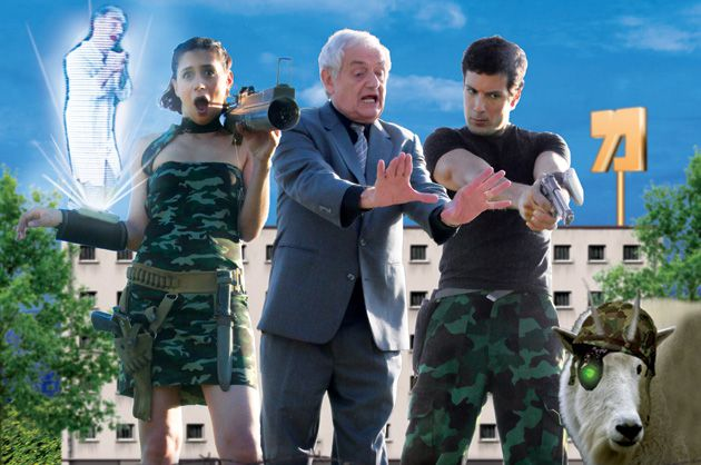 Spoof: From left to right: Lana Ettinger, Ilan Dar and Ron Shahar star in ?Israeli Intelligence,? a 40-minute Israeli comedy that has acquired a cult following.