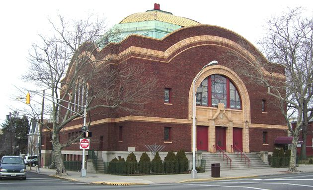 At a Crossroads: Younger Jews are once again moving into Jersey City N.J., but older synagogues, such as Temple Beth-El (above), have had mixed success at luring them into communal life.