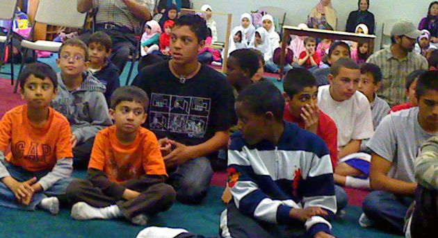 Next Generation: Children assemble for the Islamic Center?s Sunday school graduation ceremony in 2009.