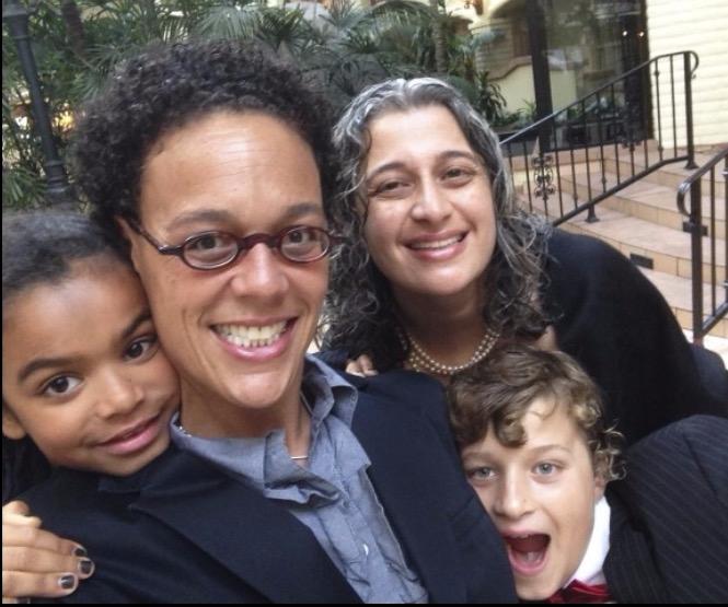Family Ties: Ilana Kaufman with daughter Noa, partner Hasmig, and Hasmig's son Sevan.
